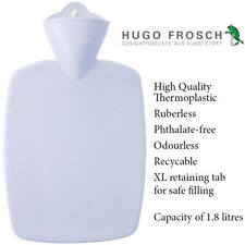 Hugo Frosch German Hot Water Bottle White Rubberless Heat Cold Bag 1.8 Litre