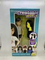 Creatable World, Basic Character Kit, Black-Hair Doll with Brown Eyes New