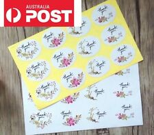 60 x Thank You Flower Stickers Wedding Engagement Party Favour Bombonier DIY