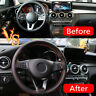 1x 38cm Protective New Leather Car Steering Wheel Cover Auto Protection Needle