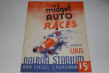 Midget Auto Races Program, San Diego Balboa Stadium, Dec 14 1947, Original