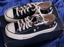 Converse All Star Plataforma Baja Zapatillas/Flor Bordada UK 5.5