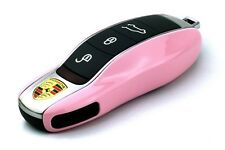 PORSCHE Pink Remote Key Cover Case Skin Shell Cap Fob Protection Hull Trim 991 -