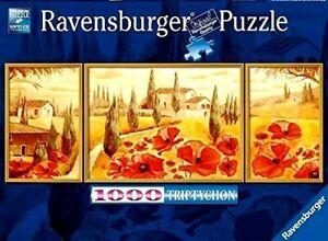 RAVENSBURGER. TUSCAN POPPY FLOWER. 1000 PCS. ITEM NR.19994. NEW