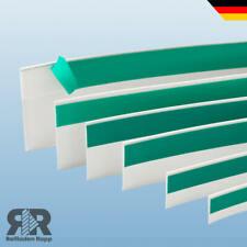 PVC Flachleiste Fensterleiste Abdeckleiste Kunststoffleiste mit Gummilippe Lippe