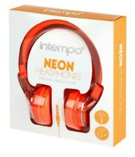 Intempo Over Ear Headphones Neon Orange NEW
