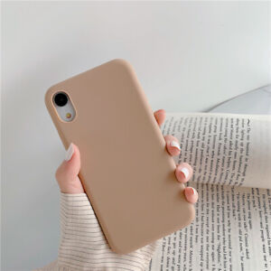 Hot Candy Color Silicone Phone Case For iPhone i11 XS MAX XR X 7 8 6s Plus Cover