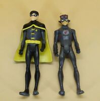 """lot of 2 DC UNIVERSE YOUNG JUSTICE JLU robin flash ACTION FIGURE 4""""  #D3"""