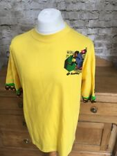 VINTAGE LOTTO ITALIA 90 WORLD CUP grandi RUUD GULLIT T-SHIRT GIALLA FOOTBALL Top