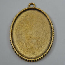 Tray 40*30mm Jewelry Accessory 50318 5pcsVintage Golden Alloy Oval Cameo Setting