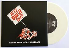 AGAINST ME! WHITE PEOPLE FOR PEACE rare UK 7 INCH VINYL RECORD BRAND NEW White