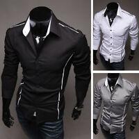 Fashion Mens Luxury Long Sleeve Casual Slim Fit Stylish Dress Shirts Best