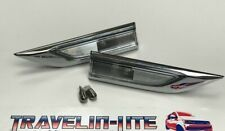 VW T6 Side Repeaters Chrome & Chrome Bulbs Genuine Parts Brand New