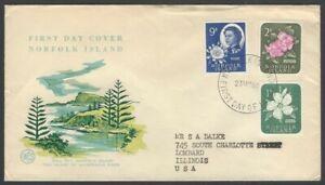Norfolk Island 1960 FDC to USA