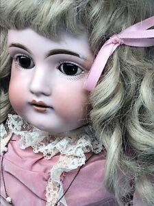 """23.5"""" Antique Kestner Bisque Doll Germany #154 Kid Body Blonde Adorable  #M"""
