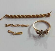 BELOW SPOT MELT 2.36g 10K Gold Jewelry Lot Butterfly Ring & Scrap