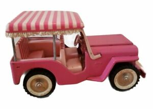 Vintage TONKA Jeep Pink Beach Surrey Toy