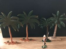 Mignot Or Similar: Pine Trees. 54mm Scale Solid Lead & Plastic Models.