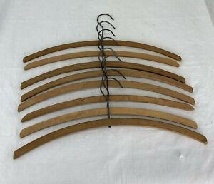 8 lot Antique Vintage Wooden metal swivel Clothes Hangers
