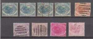 A9620: (9) 1880 Tasmanien Briefmarke Duty Briefmarken