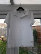 MENS WHITE POLO SHIRT - SIZE MEDIUM - NEW WITHOUT TAGS