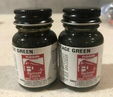 2 Pack Floquil Railroad Colors Enamel Paint BNSF Heritage Green 1 Oz New F110181