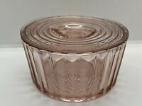 JEANNETTE JENNYWARE PINK 16 oz. SMALL REFRIGERATOR DISH GLASS CONTAINER