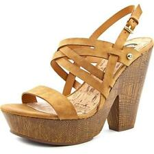 Sandalias con tiras de mujer marrón G by GUESS