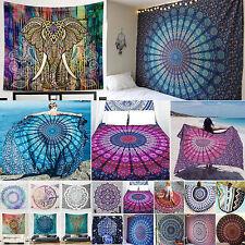 Indian Mandala Tapestry Wall Hanging Round Blanket Bedspread Boho Throw Decor AU