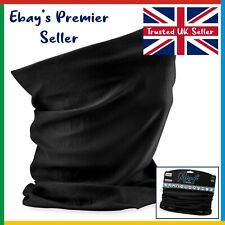 BLACK Beechfield 3 in 1 Face Cover • Original Morf • Scarf Neck Breathable Mask