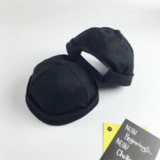 Solid Adjustable Skullcap Sailor Men Cap Rolled Cuff Retro Brimless Men' Hat