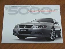 2005 Holden VZ Commodore Equipe original Australian 4 page brochure