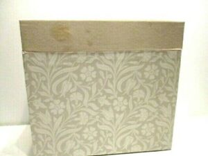 Hallmark Beige Fabric Covered Paper Hard Cardboard Special Day Calendar Box
