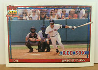 1991 TOPPS ERROR CARD Dwight Evans #155 wrong league leader games stat SP RARE