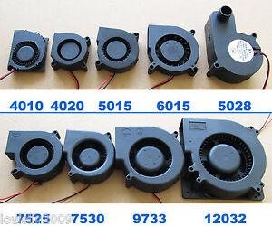 1pcs Brushless DC Cooling Blower fan 2pin 5V 12V 24V multi Sizes 4010 to 12032