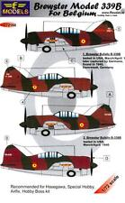 LF Models Decals 1/72 BREWSTER MODEL 339B BUFFALO BELGIAN AIR FORCE