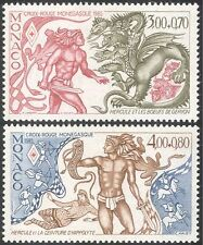 Monaco 1985 Red Cross/Medical/Health/Cattle/Hercules/Dragon/Animals 2v (n31465)