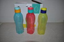 Tupperware 3 x 750 ml Eco Easy Trinkflasche + Original Verpackung Box NEU