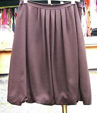 Joseph Ribkoff BNWT UK 10 Fabulous Chocolate Brown Puff-Ball Effect Skirt