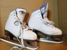 Riedell Ice Figure Skates Girl'S Size 1 Med Width - White