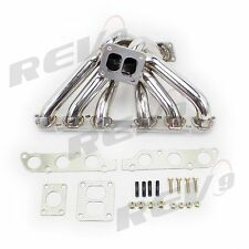 REV9 TOYOTA 2JZGE SUPRA IS300 SC300 STAINLESS TURBO MANIFOLD T4 / 40MM 50MM WG