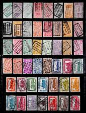 Belgium: 1940'S Stamp Collection Railway Parcel Post
