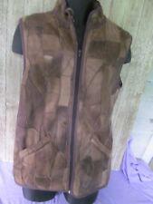 Men's Patchwork leather faux fur vest  unworn