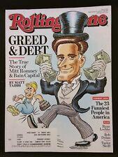Rolling Stone Magazine September 13, 2012 - Mitt Romney & Bain Capital - Comedy