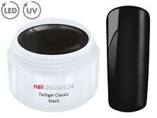 Color UV Gel LED FARBGEL BLACK French Modellage NailArt Design Nagel Schwarz Tip