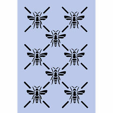 Bees Stencil Bee Bumble BELLE BEE A4 Trellis Repeat Pattern Signs Paint Wall 056
