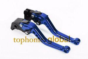 For YAMAHA MT-07/MT-09/ FZ7/FZ9 2014-2021 Short Clutch Brake Levers Blue CNC