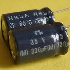 Sanyo(NC) 35V 330uF NRSA Low-ESR Electrolytic Capacitor x 50pcs. Japan Free Ship