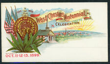 Cover -West Chester Centennial Celebration 1899 - Unused   S149