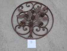 fronton, plaque, grille décoration murale en fer forgé, modèle florale , n° 9